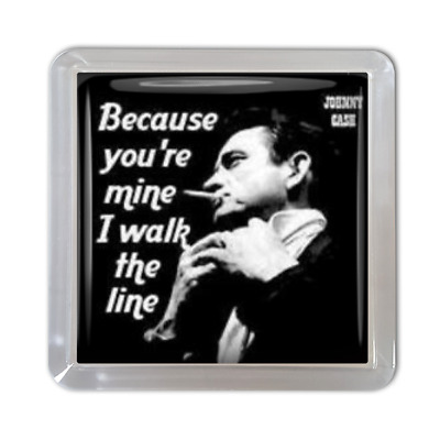 Johnny Cash Drinks Coaster Walk The Line Country And Western Handmade Gift • 3.50£