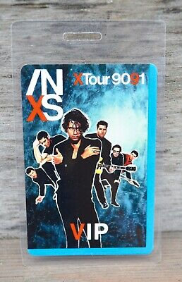 INXS X Tour 1990-1991 Laminated VIP Backstage Pass • 29.63£