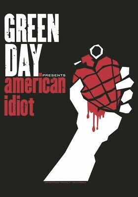GREEN DAY Textile Poster Fabric Flag AMERICAN IDIOT • 9.99£