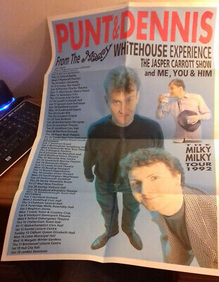 Punt And Dennis Tour Programme And Fold Out Poster 1992 • 5.99£