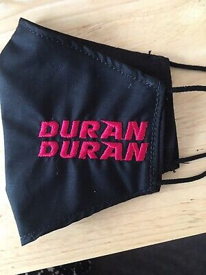 Duran Duran Style Face Mask 100% Cotton Double Layer With Opening For Filter • 6£