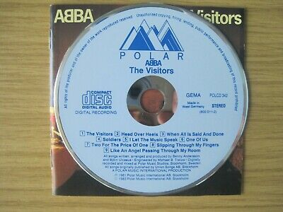 ABBA The Visitors POLAR CD First Press POLCD 342 West Germany No Barcode RARE • 200£