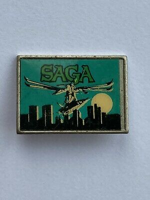 Rare Vintage 70's Saga Rock Band Inset Pin Badge. • 3£
