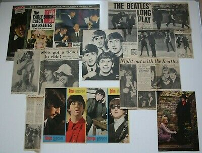 THE BEATLES Collection Of 7 Great 1960s Images & Articles, Perfect For Framing • 0.99£