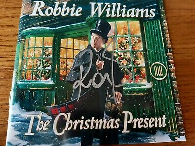 Robbie Williams Hand Signed Double CD The Christmas Present Take That • 24.99£