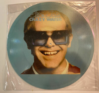 Elton John Crazy Water RARE 12-inch 1-sided Picture Disc • 56.29£