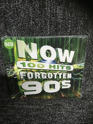 NOW 100 HITS - FORGOTTEN 90'S  (5 CD BOXSET) NEW & SEALED. Freepost In Uk • 4.95£