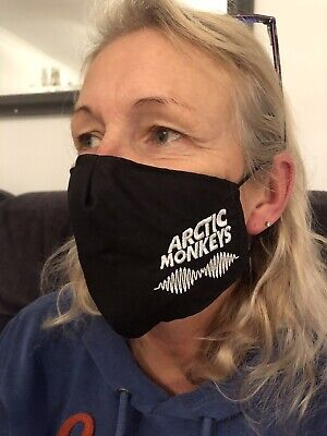 Arctic Monkeys Style Face Mask 100% Cotton Double Layer With Opening For Filter • 7£