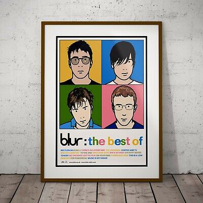 Blur - 'Best Of'  Promo Poster Three Print Options Or Two Framed Prints NEW 2020 • 39.99£