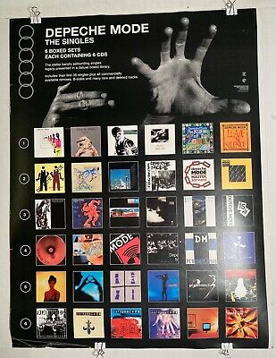 *RARE* DEPECHE MODE The Singles 2004 Mute/Reprise 18 X24  PROMO Poster GOOD COND • 14.78£