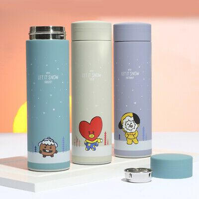 K-pop BTS Thermos Cup TATA Vacuum Flasks Stainless Steel CHIMMY Travel Bottle • 8.79£