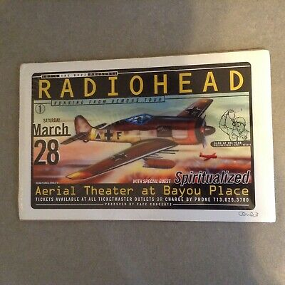 Radiohead Poster 1998 Uncle Charlie Vintage OffIcial Running From Demons Tour • 85.12£