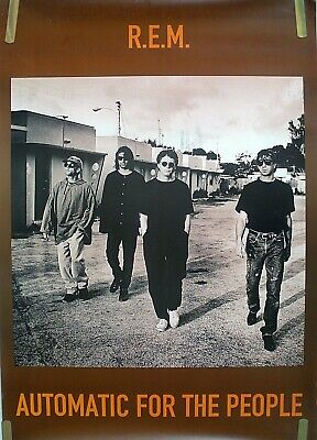 R.e.m. Automatic For The People 1992 Vintage Music Record Store Promo Poster • 21.45£