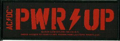 AC/DC AC-DC ACDC PWR UP Red 2020 - WOVEN STRIP SEW ON PATCH - Official Merch • 3.95£