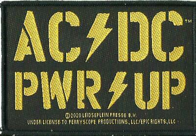 AC/DC AC-DC ACDC PWR UP Logo 2020 - WOVEN SEW ON PATCH - Official Merch ANGUS • 3.95£