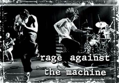 RAGE AGAINST THE MACHINE Textile Poster Fabric Flag  ONSTAGE • 9.99£