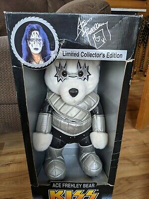 1998 Kiss Ace Frehley Collector Bear New In Box  - Spencer Gifts • 69.94£