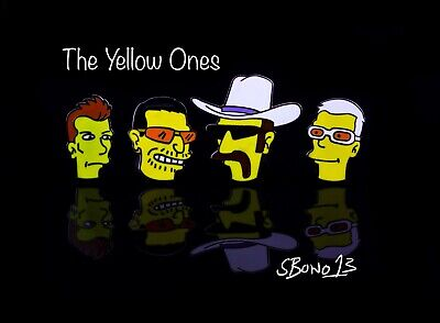U2 The Yellow Ones Pin Badges / Full Set - New - Rare Limited Ed • 24£