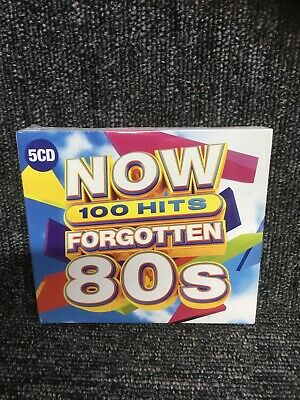 NOW 100 HITS FORGOTTEN 80S 5 CD - Various Artists. New Sealed. Freepost In Uk. • 6.40£