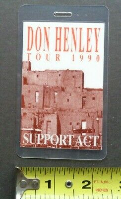 DON HENLEY,of The EAGLES,Original Backstage Pass,1990 Tour,Support • 11.97£