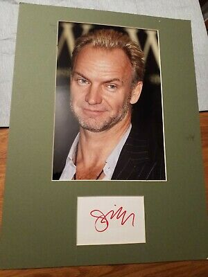 9signed Card With Framed Photo Of Sting • 15£