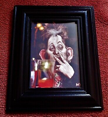 A 1995 Framed Limited Edition 67 Of 200 Shane MacGowan By Mell Dough 8.5  X10.5  • 16£