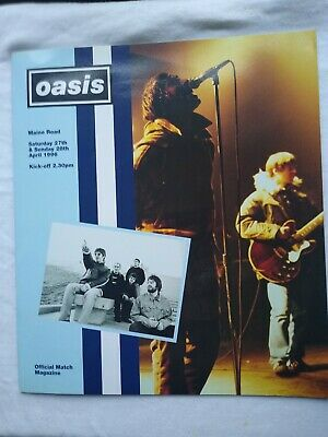 Oasis  Maine Road Programme 1996 • 40£