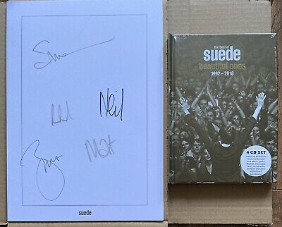 Suede - The Beautiful Ones 4CD Deluxe Box Set With Fully SIGNED Print • 34.95£