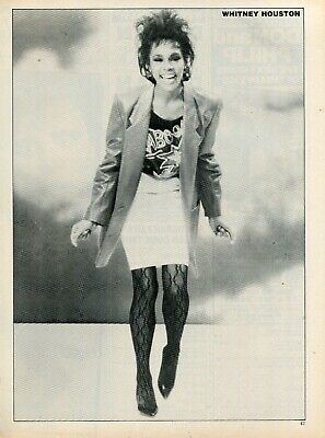 Whitney Houston Pinup Clipping Cutting From A Magazine 80's Cute Dancing • 3.75£
