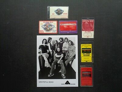 GRATEFUL DEAD,Original 8 X 10  B/W Glossy Promo Photo,6 RARE Backstage Passes • 51.82£