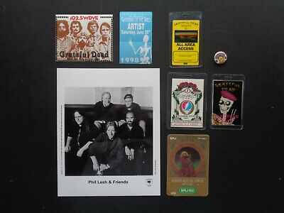 GRATEFUL DEAD,Original 8 X 10  B/W Promo Photo,6 Backstage Passes,steel Pin • 37£