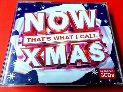 NOW THAT'S WHAT I CALL XMAS 2010 3 X CD -*VG/EX* ABBA POGUES WHAM DARKNESS SLADE • 3.99£