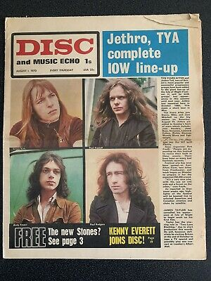 Disc And Music Echo August 1st 1970 • 6.99£
