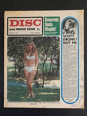 Disc And Music Echo August 2nd 1969 • 6.99£