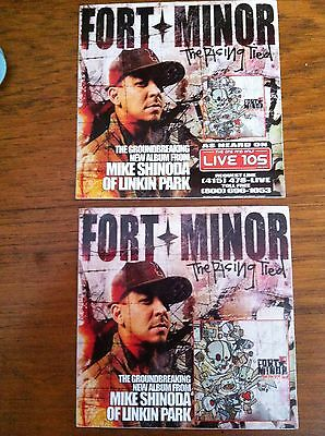 Fort Minor Linkin Park Mike Shinoda Promo Stickers For The Rising Tied Cd • 2.96£