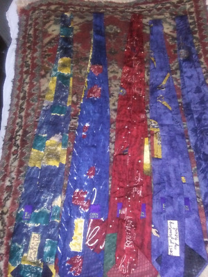 RARE! Authentic! 7  Elton John  Aids Foundation Collectable Neck Ties • 178.81£