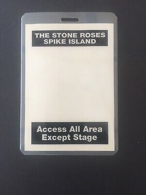 The Stone Roses - Spike Island Vintage Access All Area Pass 1990. • 55£