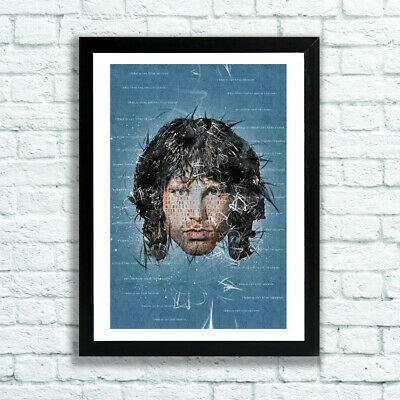 Jim Morrison The Doors Poster Light My Fire Riders On The Storm UNFRAMED • 14.95£