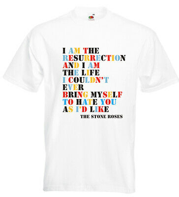 Stone Roses I Am The Resurrection T Shirt Ian Brown Madchester • 12.95£
