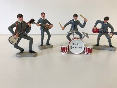 The Beatles Rare Hand Painted Lead Figure Set - The Fab Four  • 59.99£