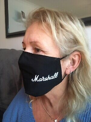 Marshall Style Face Mask 100% Cotton Double Layer With Opening For Filter • 6.50£