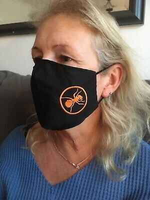 The Prodigy Ant Style Face Mask 100% Cotton Double Layer With Opening For Filter • 7£