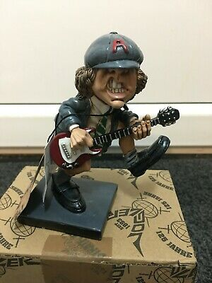 13.5cm Angus Young Resin Figurine Bon Scott Ac/dc Malcolm Young Pwr Up Acdc • 60£