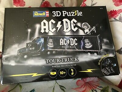 Acdc Rare 3d Puzzle Back In Black Tour Truck Angus Malcolm Young Bon Xmas Gift • 65£