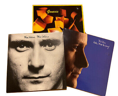 Phil Collins 3 LP Vinyl Collection Genesis 1983 Face Value Hello I Must Be Going • 19.99£
