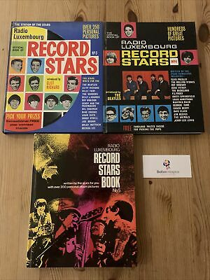 Vintage Radio Luxembourg Record Stars Books No.3,4,5 1960s Pop Music #1290 • 5£