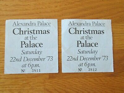 2 X Wishbone Ash - Concert Tickets - Christmas At The Palace - Dec 1973 • 20£