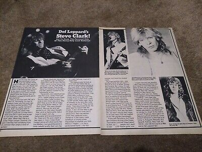 Steve Clark Centerfold Clipping Cutting From Magazine 80's Def Leppard • 5.15£