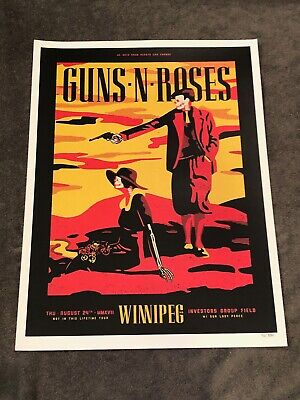 Guns N Roses Lithograph Not In This Lifetime Winnipeg Canada #76/350 8/24/17  • 36.57£