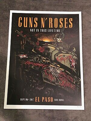 Guns N Roses Lithograph Not In This Lifetime El Paso, Texas 9/6/17 #86/300  • 36.57£